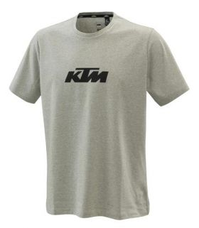 KTM  PURE LOGO TEE GREY MELANGE